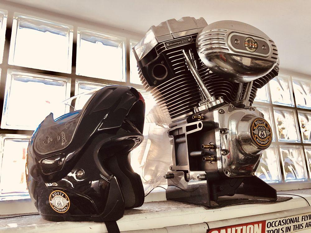 Casco de viaje en moto