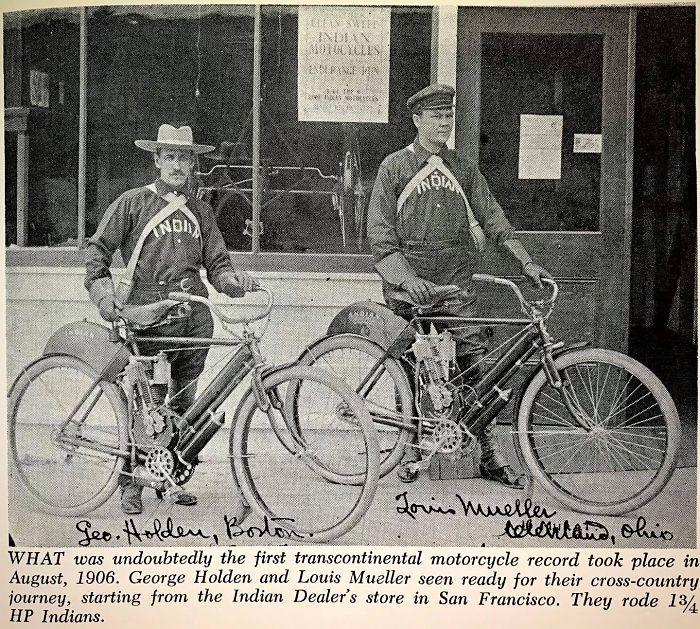 Viajeros pioneros en moto