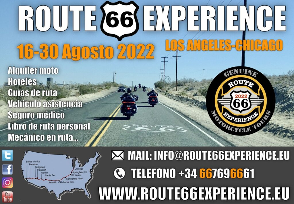 Viaje en moto por la Route 66